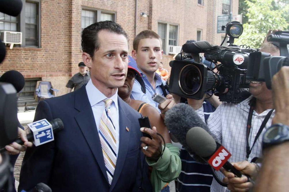 U.S. Rep. Anthony Weiner, D-N.Y., leaves his home