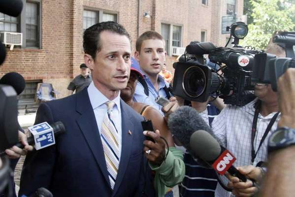 U.S. Rep. Anthony Weiner, D-N.Y., leaves his home