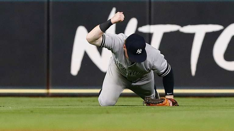 Clint Frazier of the Yankees pounds his fist