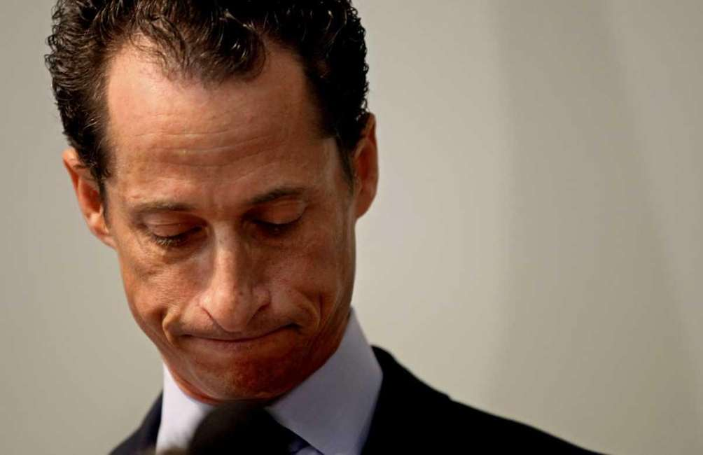 Rep. Anthony Weiner announces his resignation in Brooklyn