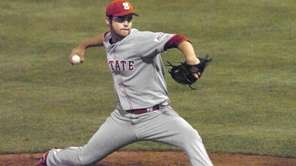 North Carolina State pitcher Cory Mazzoni delivers against