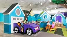 Children can play in life-size dollhouse at the