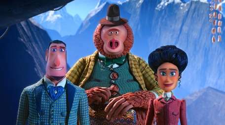 """Missing Link"" characters are, from left, Sir Lionel"