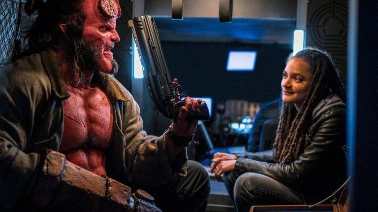 David Harbour as  Hellboy and Sasha Lane