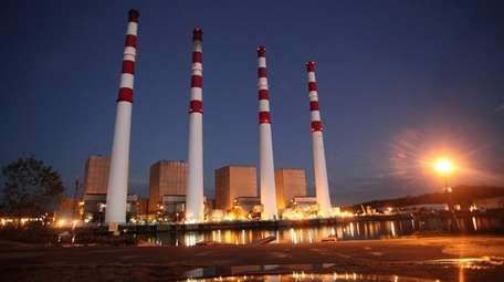 The National Grid power plant in Northport, as
