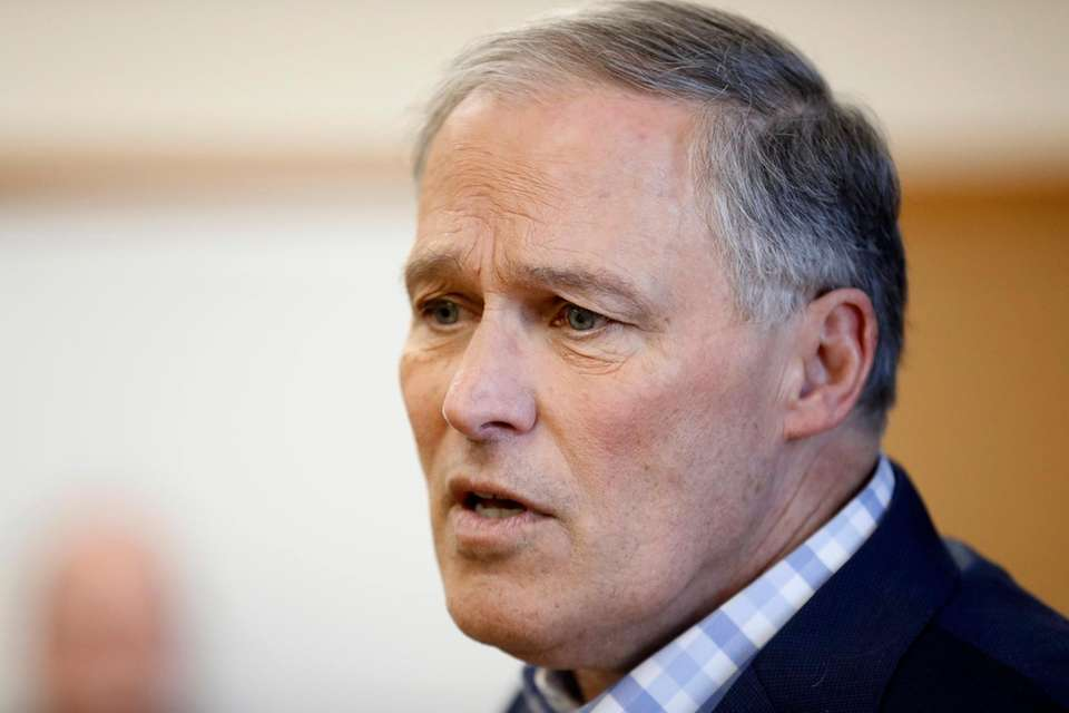 Washington Gov. Jay Inslee speaks on March 5,