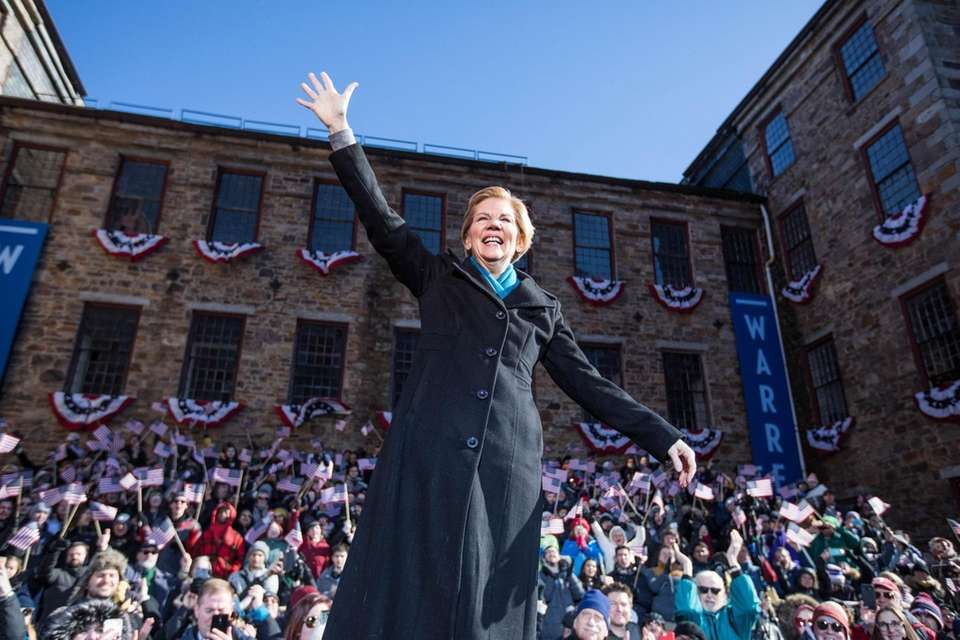 Sen. Elizabeth Warren (D-Mass.), announces her official bid