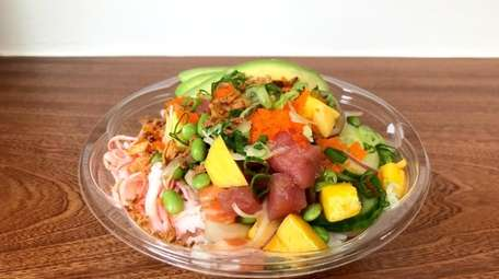 The Hawaii style poke bowl at Chen's Poke