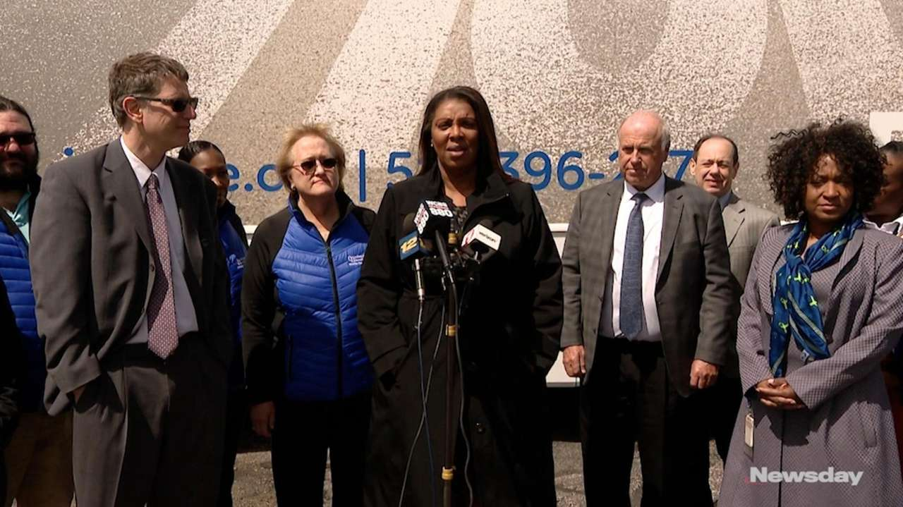 On Wednesday, New York State Attorney General Letitia James spoke