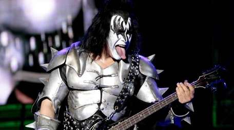 Kiss singer Gene Simmons performs during his concert