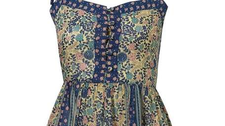 Top Shop brings this Gypsy Smock dress and
