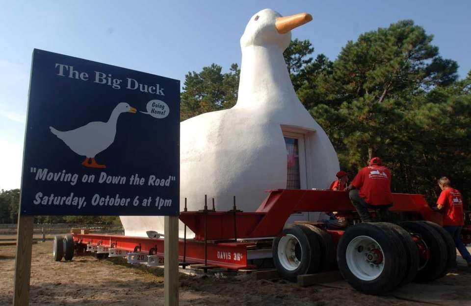 The Big Duck is set on a rig