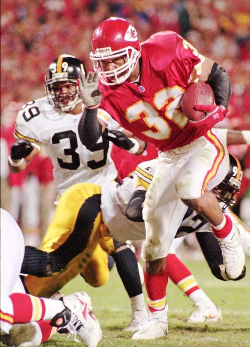 MARCUS ALLEN: 12,243 yards 16 seasons, 1982-1997 Allen
