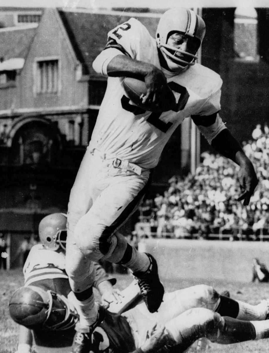 JIM BROWN: 12,312 yards 9 seasons, 1957-1965 Jim