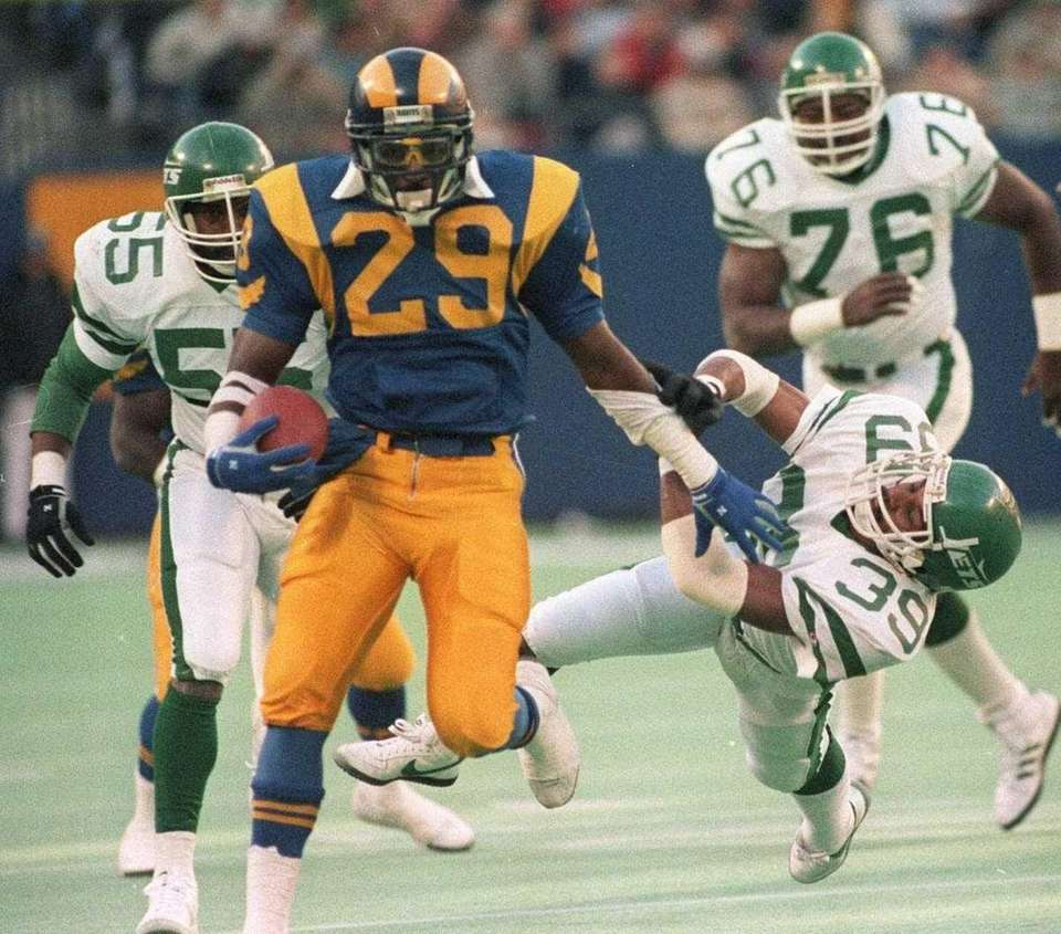 ERIC DICKERSON: 13,259 yards 11 seasons, 1983-1993 Dickerson