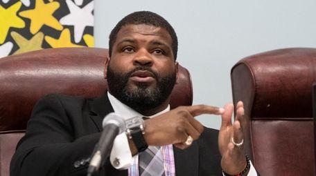James Crawford, president of the Wyandanch school board,