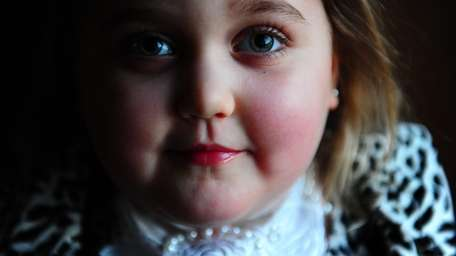 Marisa Carney, 5, is one of only 75
