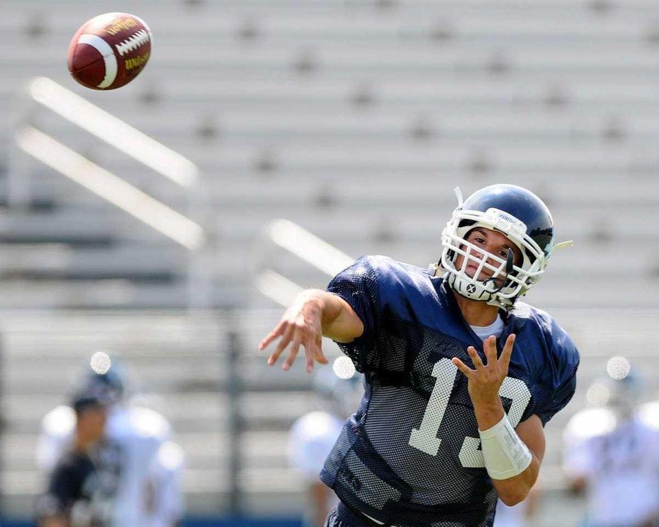 Team Long Island quarterback #13 Stephen Skon of