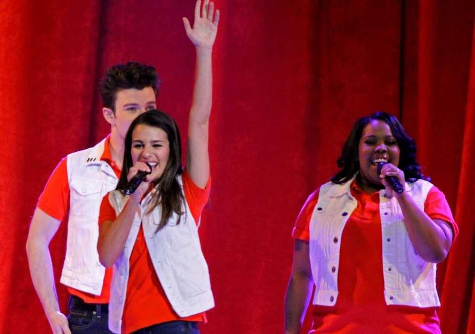 The cast members of the hit show Glee
