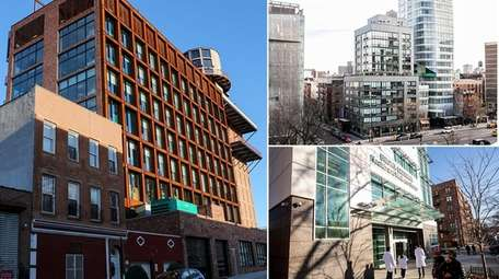 Clockwise from left, three of the 13 projects