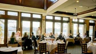 The dining room of The Snapper Inn was
