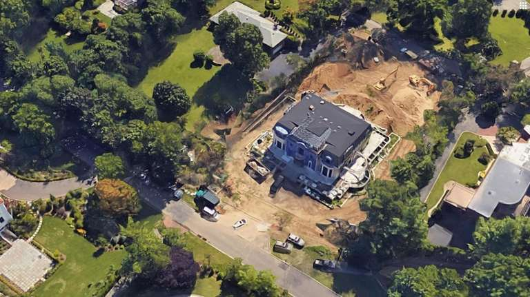 The home during construction. A federal civil lawsuit