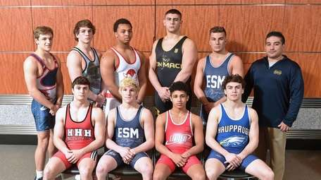 The Newsday All-Long Island wrestling team.  Front