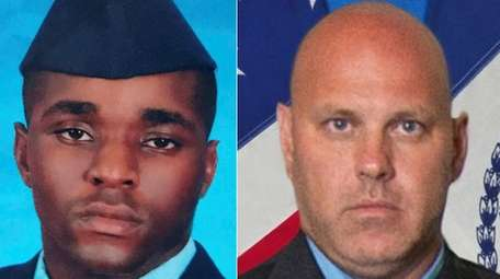 Tech. Sgt. Dashan L. Briggs, left, and Det.