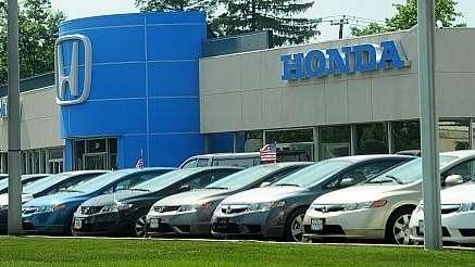 Although Honda saw its new car registrations fall