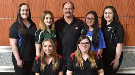 The 2018-19 Newsday All-Long Island girls bowling team.