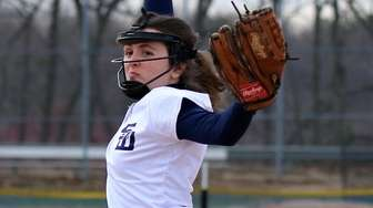 Smithtown West starting pitcher Ashley Lockwood delivers a