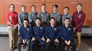 The 2018-19 Newsday All-Long Island boys swimming team.