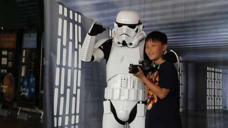 Stars Wars characters like stormtroopers and Jedi were