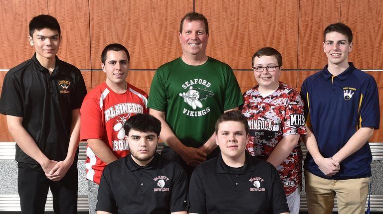 The 2018-19 Newsday All-Long Island boys bowling team.