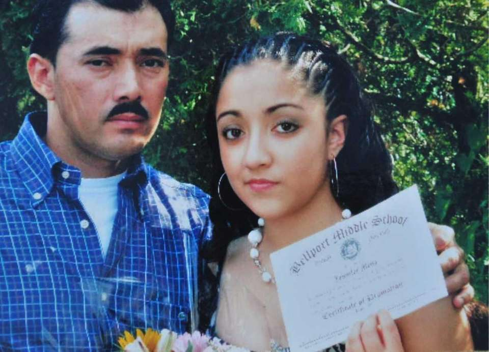 Jennifer Mejia, 18, with her father, Rene. Jennifer's