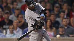 Eduardo Nunez of the New York Yankees hits