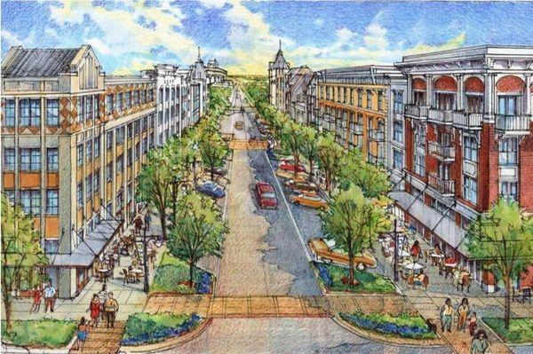 Artist rendering of North Main Street in Hempstead