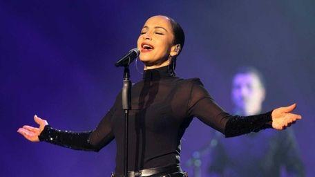 Nigerian-British singer Sade performs on stage in Nice,