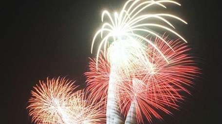 File photo of the fireworks at Lido Beach