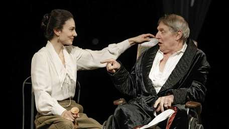 Annie Parisse and John Cullum in All's Well