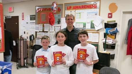 Artist and author Jeff Kinney with Kidsday reporters
