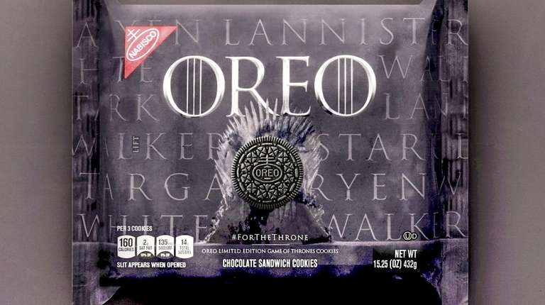 """Nabisco has introduced limited-edition """"Game of Thrones"""" Oreo"""