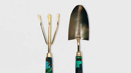 The floral goldtone two-piece Opalhouse Garden Tool set