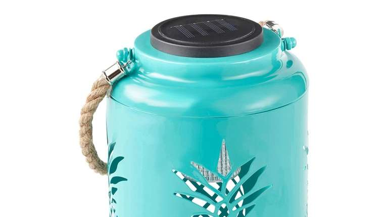 This cheerful blue solar-powered Outdoor Oasis Outdoor Lantern