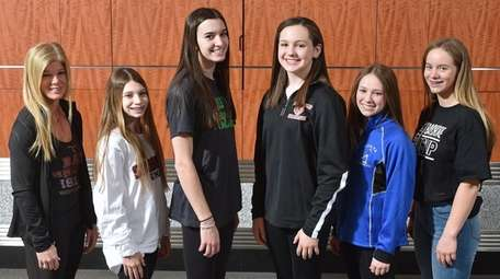 The 2018-19 Newsday All-Long Island gymnastics team. Appearing