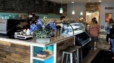 The interior of Muni's Coffee Joint, a new