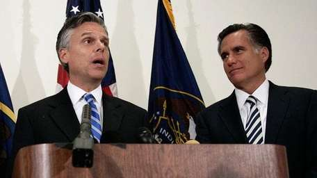 Jon Huntsman and Mitt Romney