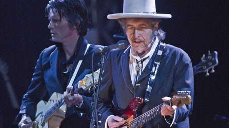 U.S. musician Bob Dylan performs weeks after his