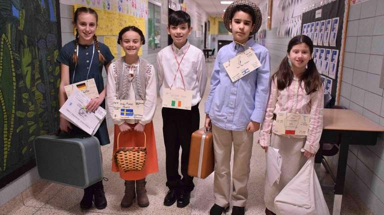 Fifth-graders at W.S. Mount Elementary School in Stony