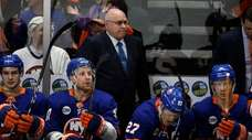 Islanders head coach Barry Trotz, shown here during